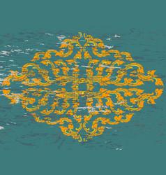 Antique thai style art pattern on green vector