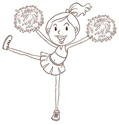 A simple sketch of a cheerleader vector