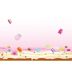 Crazy candies vector