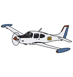 Small watch aircraft vector image
