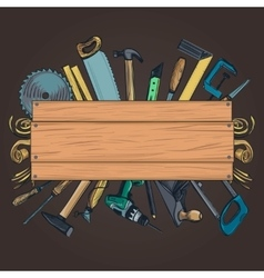 Carpentry woodworks background vector