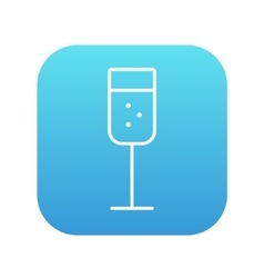 Glass of champagne line icon vector