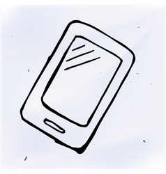 Doodle phone with touchscreen display vector