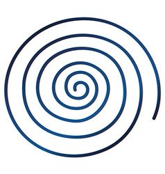 Spiral in blue color vector