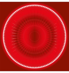Abstract rays circles mosaic red background vector