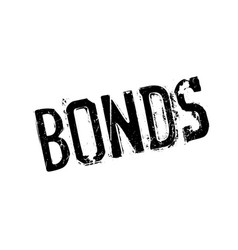 bonds rubber stamp vector image vector image