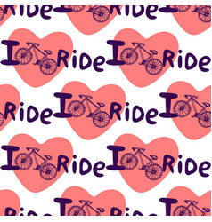 Creative hand drawn seamless pattern with bikes vector