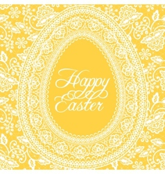 Easter yellow card vector image