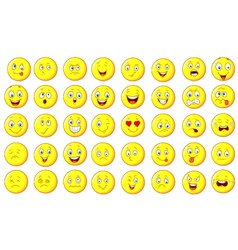 emoticon set vector image vector image