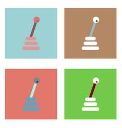 Flat icon design collection gear box vector