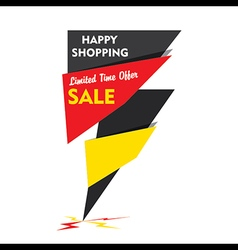 Happy shopping limited time offer sale banner d vector