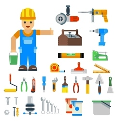 Home repair tools icons vector image