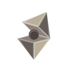 jewel cut diamond set isolated gem icon design vector image