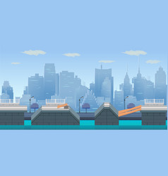 jump city game background vector image vector image