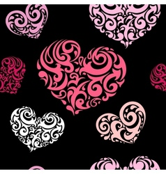 Love seamless background vector image