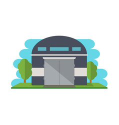 Modern storehouse building isolated icon vector