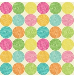 Seamless circle pattern Hand-drawn background vector image vector image