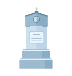 Tombstone crypt construction for dead vector image vector image