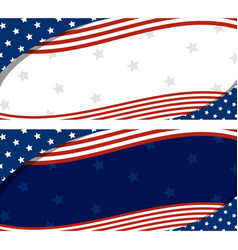 Usa banner abstract background design of american vector