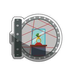 Vault safe deposit ring jewlry vector