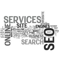 What seo services can do for your online business vector