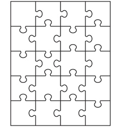 white puzzle 1 vector image vector image
