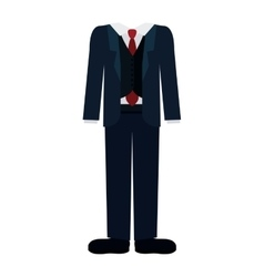 Isolated male suit cloth design vector