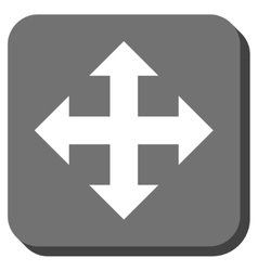 Expand arrows rounded square icon vector