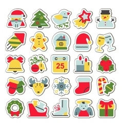 Set of flat icons for christmas and new vector