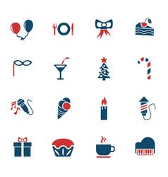 Celebration icon set vector
