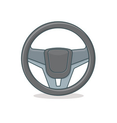 Steering wheel icon vector