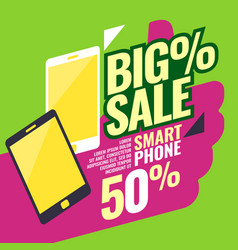 Poster most selling smartphones with a percent vector