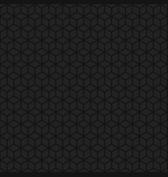Abstract background of lineart cubes vector