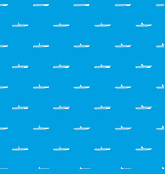 Motor speed boat pattern seamless blue vector
