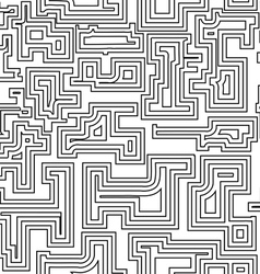 Seamless pattern with broken lines vector