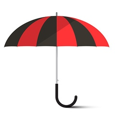 Black and red umbrella - parasol isolated on vector