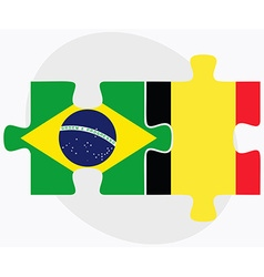 Brazil and belgium flags vector