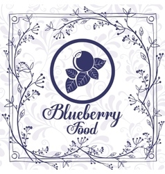 Delicious blueberry design vector