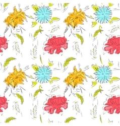 Spring flowers pattern vector