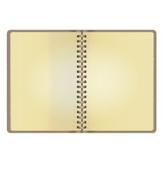 Blank realistic vintage open notebook vector