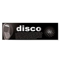 disco banner vector image