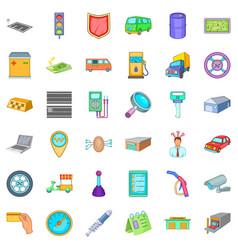 Auto repair icons set cartoon style vector