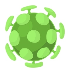 Bacterial cell icon cartoon style vector image