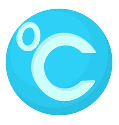 Celsius icon cartoon style vector