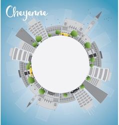 Cheyenne Wyoming Skyline vector image