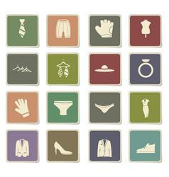 Clothes icon set vector