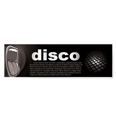 disco banner vector image vector image