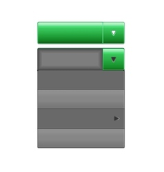 drop-down menus vector image