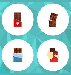 Flat icon sweet set of bitter wrapper shaped box vector