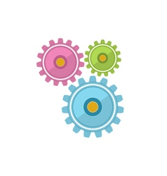 Gears isolated on white vector